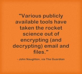 Various publicly available tools have taken the rocket science out of encrypting (and decrypting) email and files.
