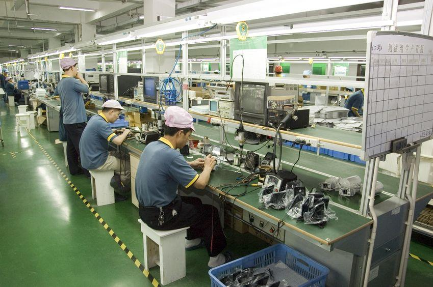 Production floor of a surveillance camera factory, Shenzen, China