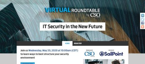 CSO Virtual Roundtable: IT Security Northwest Region