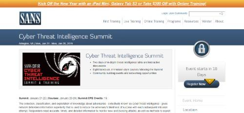 Cyber Threat Intelligence Summit