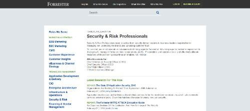 Forrester Security & Risk Professsionals
