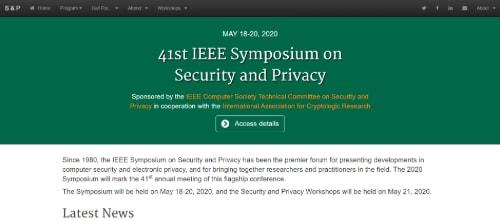 41st IEEE Symposium on Security and Privacy