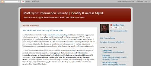 Matt Flynn's Information Security, Identity & Access Management Blog