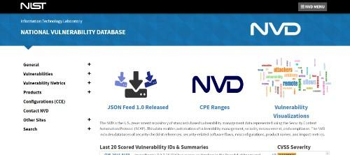 NIST National Vulnerability Database