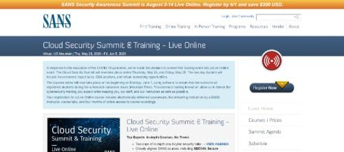 SANS Cloud Security Summit & Training