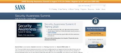 SANS Security Awareness Summit