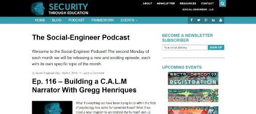 The Social Engineer Podcast
