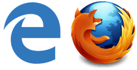 Microsoft Edge and Mozilla Firefox Icons
