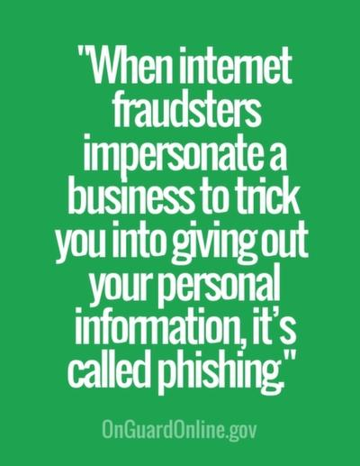 When internet fraudsters impersonate a business to trick you into giving out your personal information, it's called phishing.